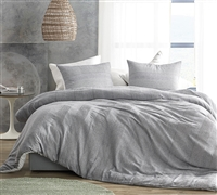 Waffled Gray - Oversized King Comforter