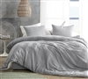 Waffled Gray - Oversized Queen Comforter