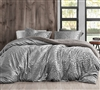 Primal Leopard - Coma Inducer Queen Duvet Cover - Silver Black
