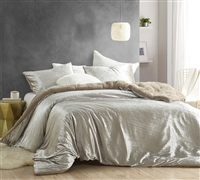 Velvet Crush - Coma Inducer Oversized King Comforter - Crinkle Iced Almond