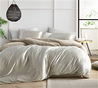 Velvet Crush - Coma Inducer King Duvet Cover - Crinkle Iced Almond