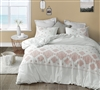 Phineas Coral Embroidered Queen Comforter