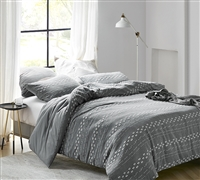 Conceptual Gray Textured King Comforter
