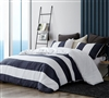 Navy Bold Twin Duvet Cover - Oversized Twin XL