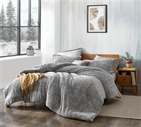 Coma Inducer Oversized Twin Comforter - Two Tone Limited Release - Plum Gray Kitten