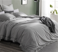 softest bedding duvet cover to encase best down comforters- Leixoes Textura Stone Wash Twin XL Duvet