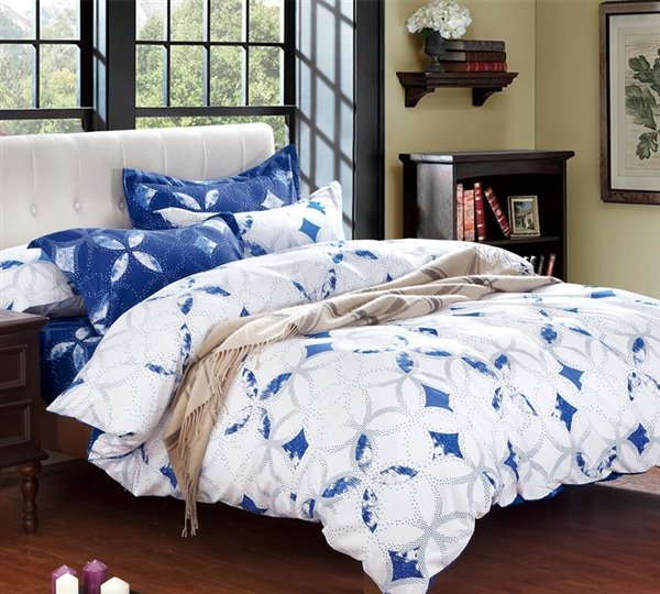 Shop Queen Size Bed Comforter Sets Sapphire Peace Queen