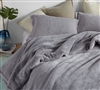 Plush Gray King XL Bedding- Super Soft Oversized King Comforter. Extended Length and Width King Bedding