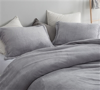 Oversized Twin XL, Queen, or King Duvet Cover Most Comfortable Coma Inducer Bedding Me Sooo Comfy Alloy Gray