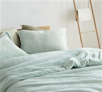 One of a Kind Me Sooo Comfy Plush Coma Inducer Essential Hint of Mint Green King Oversize Duvet Cover