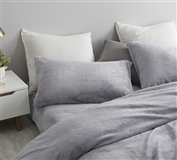 Gray Plush Queen Sheet Set. Coma Inducer Queen Bedding. Must Have Bedding Essential.
