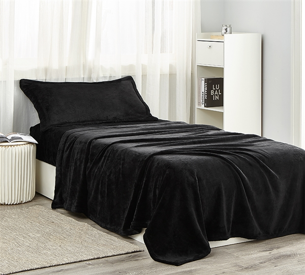 Me Sooo Comfy Twin XL Sheets - Black