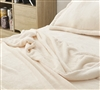 Must Have Extra Large Full Sheets Plush and Cozy Me Sooo Comfy Soft Full XL Bedding in Neutral Ecru Color