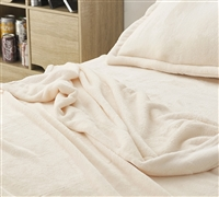Me Sooo Comfy Oversized Twin Sheets - Ecru Bed Sheet Sets in Twin XL