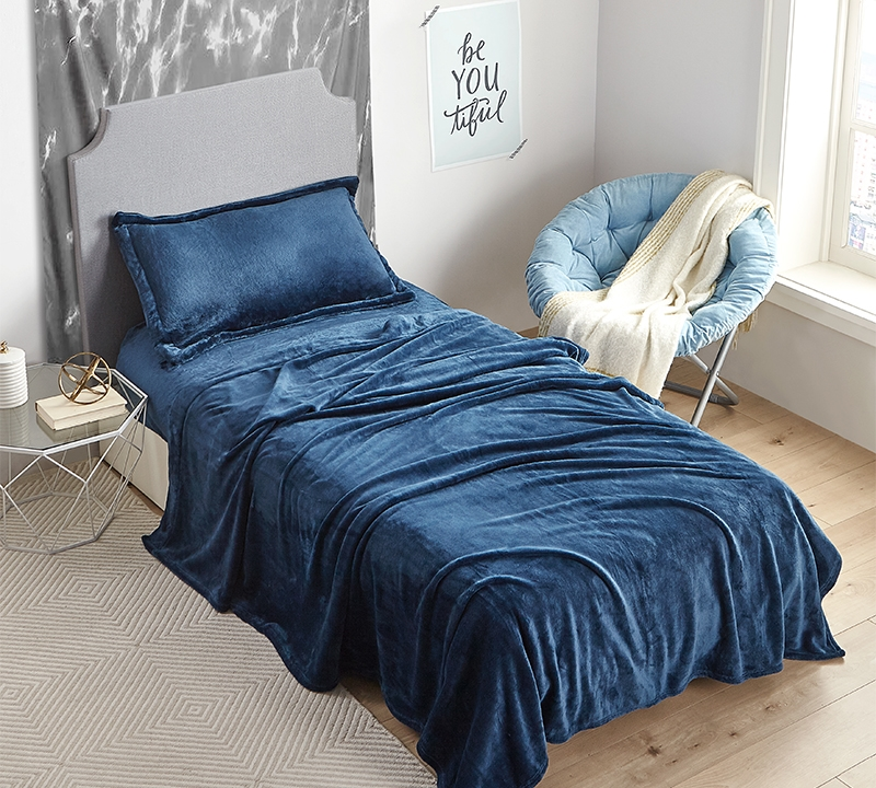 Me Sooo Comfy Extra Long Twin Sheets Navy Bedding In Xl