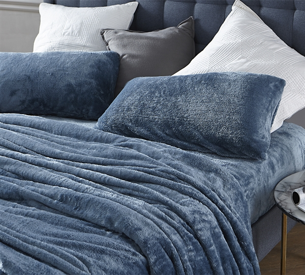 Me Sooo Comfy Full Sheet Set - Smoke Blue