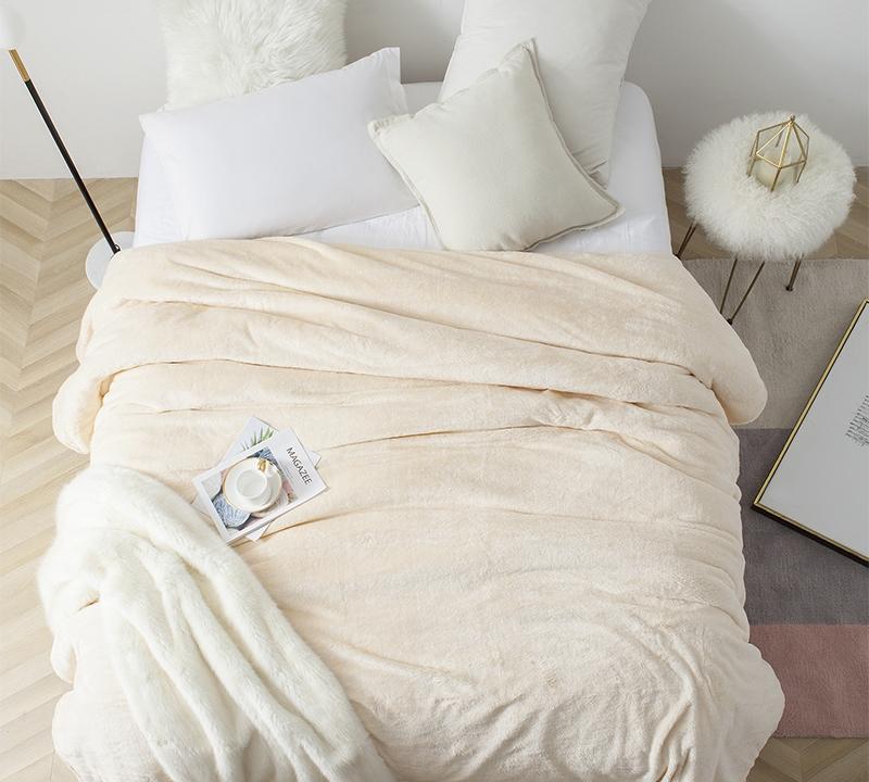 100/% down Natural Blanket Duvet Duvet-Ecru and White