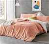 Fuzzy Peach - Coma Inducer Queen Comforter - Peachy Pink