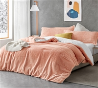 Fuzzy Peach - Coma Inducer Twin XL Comforter - Peachy Pink