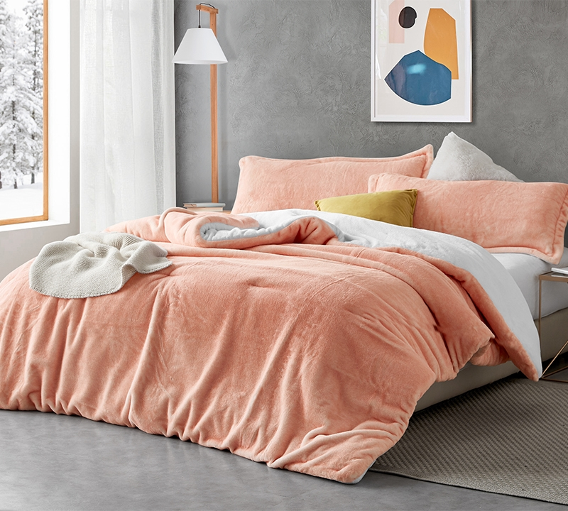 Fuzzy Peach Coma Inducer Twin Xl Comforter Peachy Pink