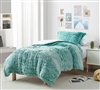 Are You Kidding - Coma Inducer Oversized Twin Comforter - Frosted Lucky Green