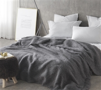 Nama Karoo - Hand Brushed Kid Mohair - Bed Blanket - Goodnight Grey