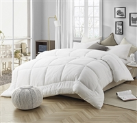 High Quality Plush Extra Large Twin, Queen, or King Comforter with Cozy Microfiber and Thick Down Fill