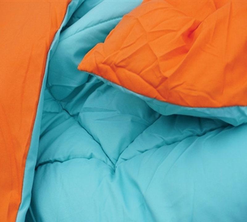 Caribbean Ocean Orange Reversible Queen Comforter Oversized Xl Bedding