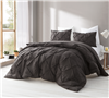 Demitasse Brown Pin Tuck Full Comforter - Oversized Full XL Bedding