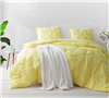 Limelight Yellow Pin Tuck Full Comforter - Oversized Full XL Bedding