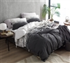 Extra Large Queen Duvet Cover made of Super Soft Cotton and Stylish Faded Black Ombre Design