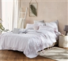 Fashionable Gray and Pink Woven Extra Large Textured Queen Comforter with Super Soft Cotton Material
