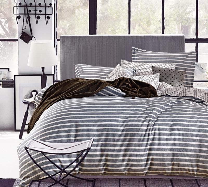 classic gray stripes twin xl sheets - Twin Xl Comforters