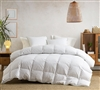 Hungarian-Made Oversized Twin XL, Queen, or King Comforter with Luxurious Recycled Down and Feather Fill