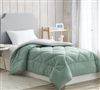Iceberg Green/Glacier Gray Twin Comforter - Oversized Twin XL Bedding