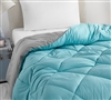 Aqua/Alloy Full Comforter - Oversized Full XL Bedding