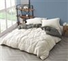 Super Soft Microfiber Extra Large Full Reversible Comforter in Neutral Off-White or Stylish Gray Options