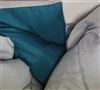 Unique Reversible Glacier Gray/Ocean Depths Teal Twin XL Extended Comforter Stylish and Comfortable Teal and Gray Twin XL Comforter