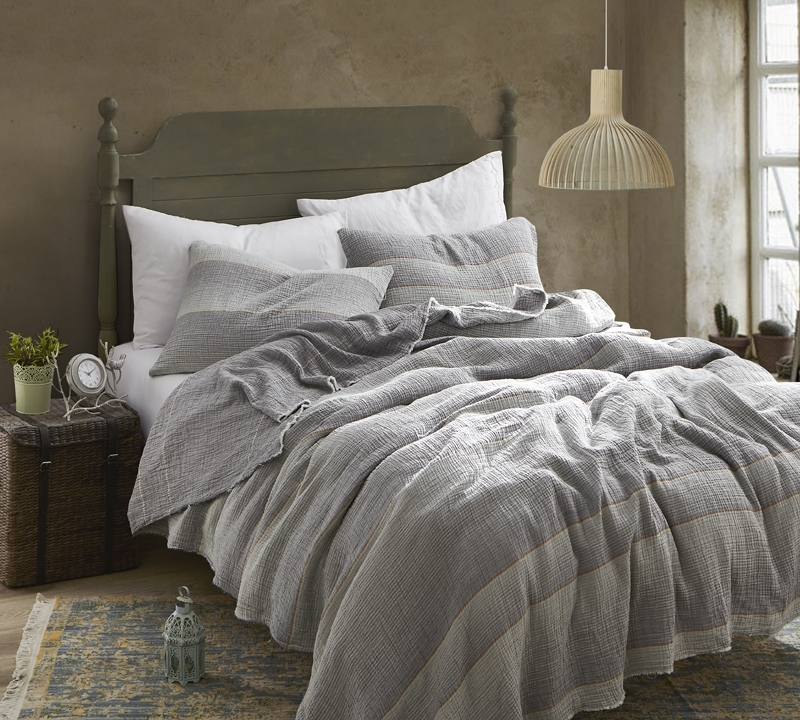 Beautiful Soft Denim Stone Washed Full Bedding Quilt