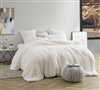 Ultra Cozy White Plush Duvet Cover for King Size Mattresses. Softest Bedding.