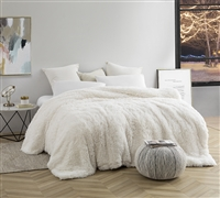 White Are You Kidding Duvet Cover with Thick Plush for Twin XL, Queen, and King Sizes Beds