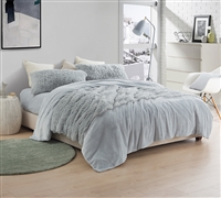 Light Gray Sheet Set made with Luxury Plush & Coral Fleece for Ultimate Comfort