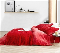Super Soft Red Wild Plush King Sheet Set. Coma Inducer 4 Piece Sheets for King Size Bed.