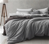 Oversized King Bedding Essentials Supersoft Comfortable Alloy Gray King XL Duvet Cover