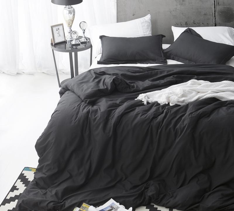 Duvet Cover Black Supersoft Bedding King
