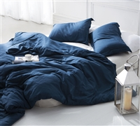 Extra long Twin size Duvet Cover  - Nightfall Navy Supersoft Bedding duvet cover Twin oversize