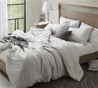 Duvet Cover Silver Birch Supersoft Bedding - Queen duvet cover with 2 matching sham sets