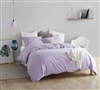 Fashionable Purple Extra Large King Duvet Cover with Stylish Matching Shams and Super Soft Microfiber