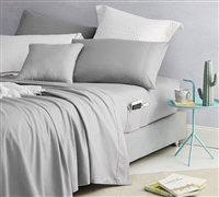 Bedside Pocket California King Sheet Set - Alloy