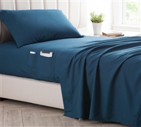 Bedside Pocket California King Sheet Set - Supersoft Nightfall Navy